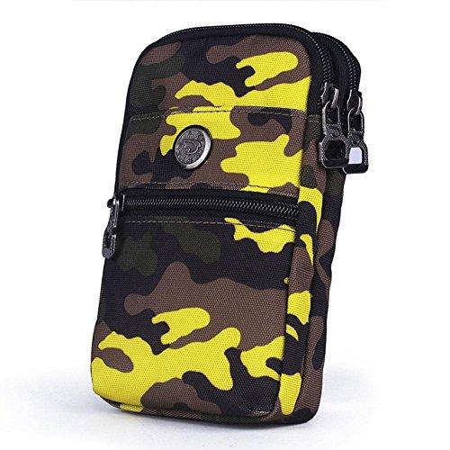 BUSL Wandern Hüfttaschen Außentaschen Handy-Paket 6-Zoll-Multi-Funktions-Reise Schulter Messenger Bag Taschen weiblich Sport B