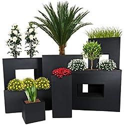 PFLANZWERK® Pflanzkübel TOWER Anthrazit 50x23x23cm *Frostbeständiger Blumenkübel* *UV-Schutz* *Qualitätsware*
