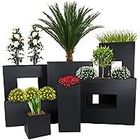 Pflanzwerk® Maceta Cube Antracita 23x23x23cm *Resistente a Las heladas* *Protección UV*
