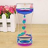 Generic New Floating Color Mix Illusion Timer Liquid Motion Visual Slim Liquid Oil Acrylic Hourglass Timer Clock