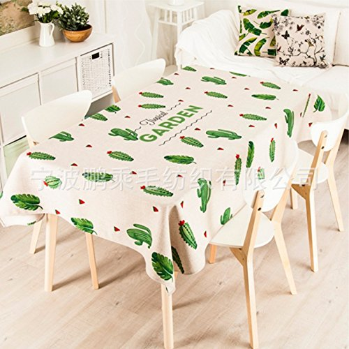 LISENGDJ Tissu Tissu Tissu Cactus Frais Tapis De Table Tapis De Table Serviettes Couverture,85Cm * 85