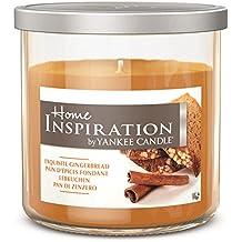 Home Inspiration by Yankee Candle - Lebkuchen - Duftkerze im mittleren Glas mit Deckel - Farbe Braun - 198g