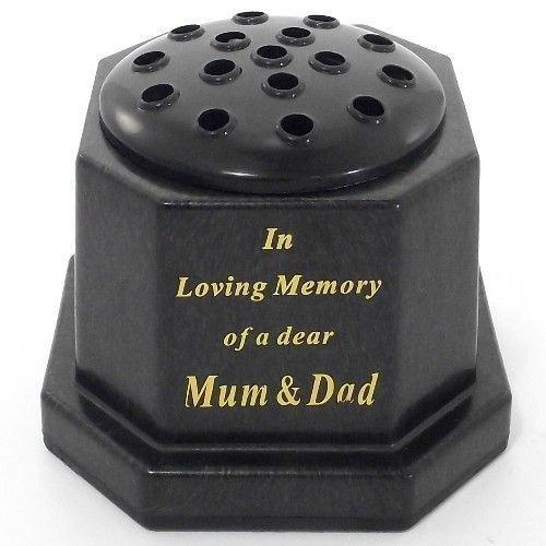 liebevoller erinnerung an ein teuer Mama und Papa denkmal-topf/grab vase ()
