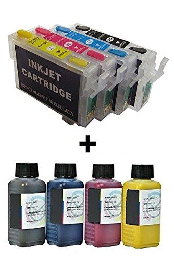 Quickfill, Fill-in, Easy Refill, Auto Reset Cartucce di inchiostro  ricaricabili con Chip Autoresettante T2981, T2982, T2983, T2984 - T2991,  T2992,
