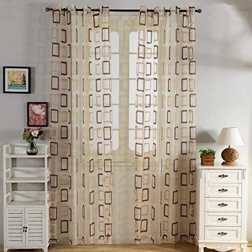 Top Fine cortina transparente tratamientos ventana