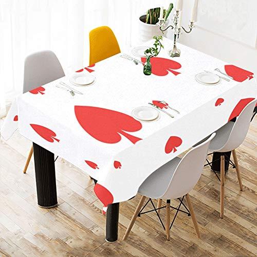 Enhusk Kinder Aktivität Tischdecke Poker Papier Anzahl Spiele Baumwolle Druck Tischwäsche Tuch Abdeckung Tischdecke Für Küche Esszimmer Dekor 60x84 Zoll Eine Tischdecke