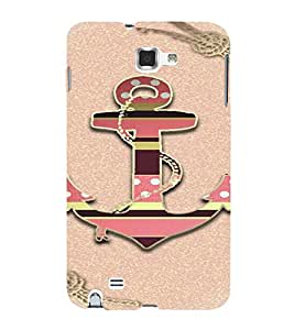 PrintVisa Colorful Anchor Design 3D Hard Polycarbonate Designer Back Case Cover for Samsung Galaxy Note 1