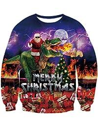 NEWISTAR Unisex Weihnachtpullover 3D Herren Damen Pullover Weihnachten Jumper Tops Sweatshirts Bluse S-XXL