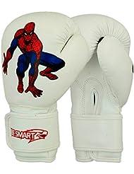 Spider-Man Junior mitones guantes de boxeo de 4 oz, 6 oz de boxeo MMA juventud niños Blanco blanco Talla:4 Oz