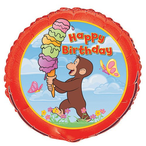 18'' Foil Curious George Balloon by Unique Industries