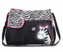 Generic Multifunctional Baby Diaper Nappy Changing Bag Mummy Handbag Zebra Pattern