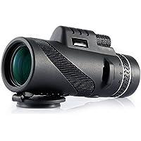 Telescopio monocular telescópico 40X60 Telescopio portátil a prueba de agua con BaK4 Roof Prism, Dual Focusing para la observación de animales o aves/ viajes de caza/ juego de pelota /concierto