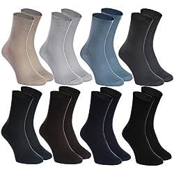 8 pares de calcetines sin goma para diabéticos, de algodón, para hombres y mujeres talla 42 43, producidos en Europa y cómodo para los pies