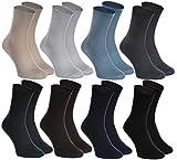 Rainbow Socks - 8 Paar Socken Für DIABETIKER - Ohne Gummibund - für GESCHWOLLENE, Gesundheit, KRAMPFADER - Bequem und Zart - BAUMWOLLE Reich| Größen EU: 39-41, Made in Europa