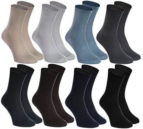 8 pairs of non-binding socks for diabetics, health cotton socks for men and women, multiple sizes 4 5 6 7 8 9 10 11,5, produced in Europe, comfortable and delicate for your feet