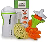 Kitchen-nv - The Spiralizer - Spiral Slicer - Vegetable Spiralizer - FREE E-book & brush - Lifetime Warranty - Zucchini Noodles - Vegetable Slicer