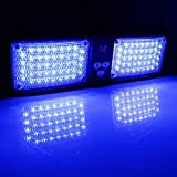 VGEBY Auto 12V 86 LED Sonnenblende Strobe-Blitzlicht Notfall-Warnlampe ( Farbe : Blau )