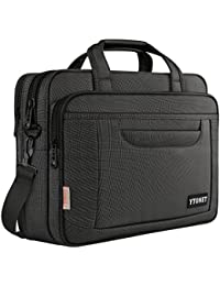 Laptop Bag, 15.6 inch Multifunctional Business Case Briefcase, Unisex Professional Spacious Laptop Messenger bag for Women and Men, Durable Universal Nylon Shoulder Bag for Tablet/Notebook-Black Grey