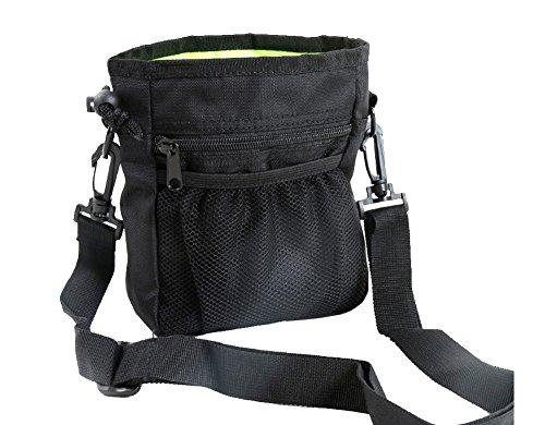Machen Drawstring Handtasche (Longwu Nylon Professional Dog Treat Trainingsbeutel tragen multifunktionale Snacks Tasche für Haustiere Gürtel Schwarz)