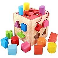Steckwürfel Tiere Motorikwürfel Motorik Steckspiel Würfel Steck Puzzle Baby Holzspielzeug