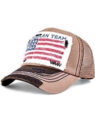 Distressed Vintage USA Flag Trucker Mesh Cap