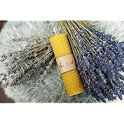 BeeIT 5x Pure Cire d'abeille, roulées à la Main en nid d'abeille Bougies Boîte avec Naturel Cire d'abeille Bougies Pilier