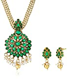 Ava Jewellery Set for Women (Green) (S-O...