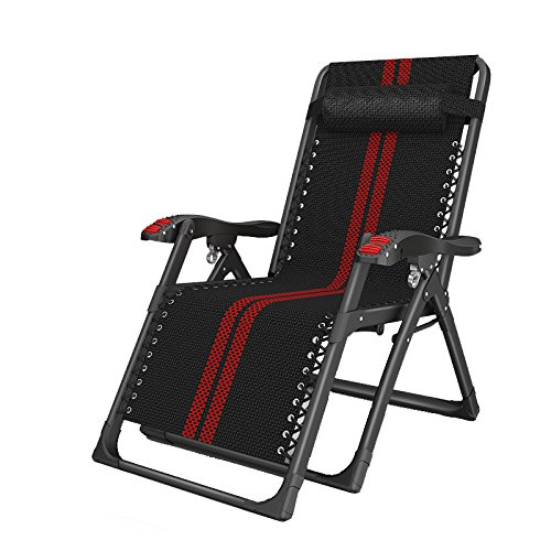 Folding chair Health UK Silla Plegable De Ferroaleaciones Negras Oferta Silla Reclinable...