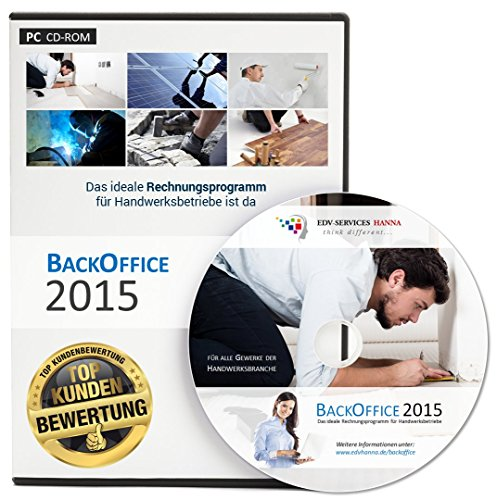 Maler Software (BackOffice 2015 Professional (Lizenzdauer: unbegrenzt) - Rechnungsprogramm für Handwerker, Maler & Lackierer, Fliesenleger, Bodenleger, Dachdecker, etc.)