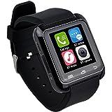 zolimx U80 inteligente deporte sano Bluetooth pulsera reloj Podómetro (negro)