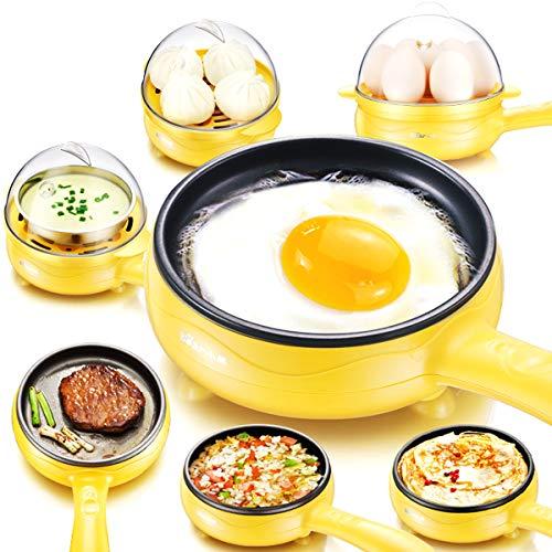 LLYY Super Eierkocher,Eierkocher,Eierkocher Egg Cooker für 1-7 Eier Multifunktional Non-Stick Egg Steamer
