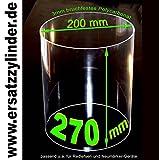 Ersatzglas Würstchenwärmer aus Polycarbonat (PMMA). H=270/ D=200mm, bruchsicher