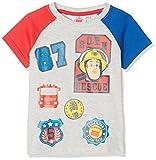 Sam el bombero Chicos Camiseta Manga Corta - Gris - 116