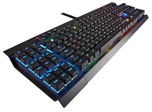 Corsair Gaming K95 - Teclado mecánico (retroiluminación multicolor, Cherry MX Red, QWERTY español), color negro (CH-9000220-ES)