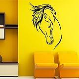 Yosoo Pferdekopf Wand Aufkleber entfernbare Wand Abziehbilder DIY Vinylkunst Wandgemälde Hauptküche Wohnzimmer Schlafzimmer Wand Tür Dekoration
