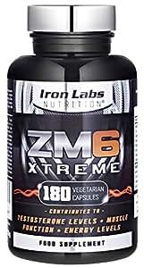 ZM6® Xtreme - 2.100mg  180 Vegetarische Kapseln   2-3 Monatsvorrat  Zink-Magnesium-Nahrungsergänzungsmittel (offiziell zugelassenes ZM6®)   Enthält Zink für die Regulierung des Testosteronspiegels