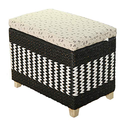 Lagerung Hocker LXF Einfacher Hocker Ottoman, gewebte Aufbewahrungsbox für Wohnzimmerwechsel-Schuhbank, Kapazität 150 kg (größe : 50x30x40cm)