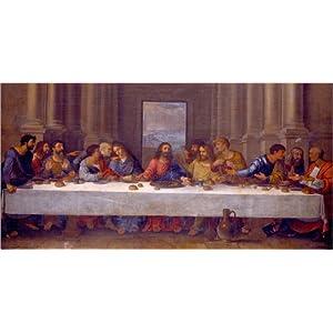 Posterlounge Acrylglasbild 40 x 20 cm: Das letzte Abendmahl, nach Leonardo da Vinci von Nicolas Poussin/ARTOTHEK – Wandbild, Acryl Glasbild, Druck auf Acryl Glas Bild