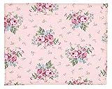 Greengate Marley Pale Set de Table matelassé Rose 45 x 35 cm