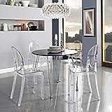Across-EU Shop Lot de 2 Ghost Chaises en Acrylique Polycarbonate pour Salle à Manger, Salon, Bureau, Restaurant et Jardin, Taille: 91*35*48cm, Poids: 9kg, Transparent...