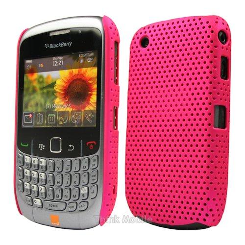 Blackberry Curve 8520 / 9300 3G Harte Schutzhülle Case - Pink Mesh Hard Case Schutz Hülle Etui Für Blackberry Curve 8520 / 9300 3G - thinkmobile (8520 Gehäuse Blackberry)