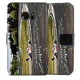 artboxONE Handyhülle Samsung Galaxy S7, weiß Sideflip-Case Handyhülle 'Porsche Case' - Automobile Motorsport - Smartphone Sideflip Case mit Kunstdruck von Olaf Pohling