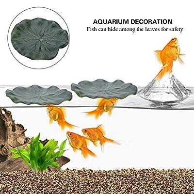 Qiterr Künstliches Lotusblatt, 10Pcs schwimmendes Aquarium-Wasser-Landschaftsdekoration