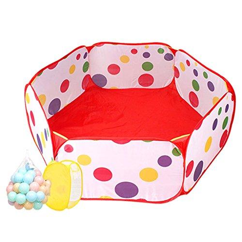 Portable Laufgitter Kleinkind Spiel Zelt Meer Ball Pool, Indoor Outdoor Baby Sicherheit Spielplatz Yard, Rote Ball Pit (größe : 50 balls)