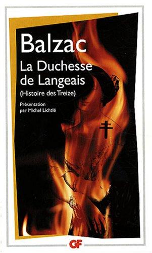 La Duchesse de Langeais : Histoire des Treize
