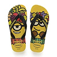 Havaianas Minions, Unisex Kids Flip Flop Flip Flops, Multicolour (Citric Yellow/Black/Citric Yellow 7186), 1/2 UK Child (35/36 EU)