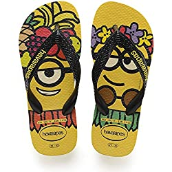 Havaianas Minions, Chanclas Unisex Niños, Black/Citric Yellow 7186, 37/38 EU
