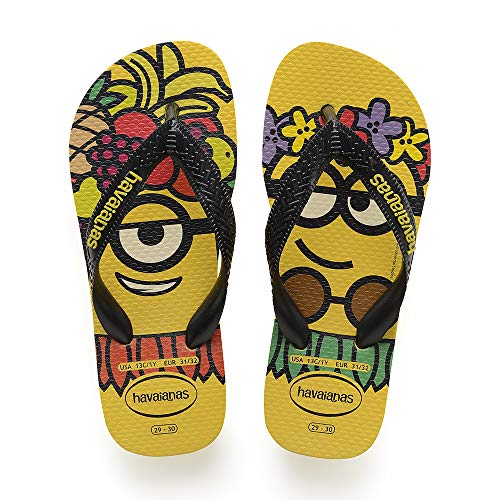 Havaianas Minions, Infradito Unisex-Bambini, Multicolore (Citric Yellow/Black/Citric Yellow 7186), 29/30 EU