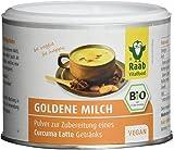 Raab Vitalfood Bio Goldene Milch, Curcuma Latte mit Kokosblütenzucker, vegan, Kurkuma mit natürlichem Curcumin, Golden Milk, 2er Pack (2 x 70 g)