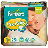 Pampers New Baby Taille 1 nouveau-né 2–5 kg Porter Pack, 6 x 25 pièces